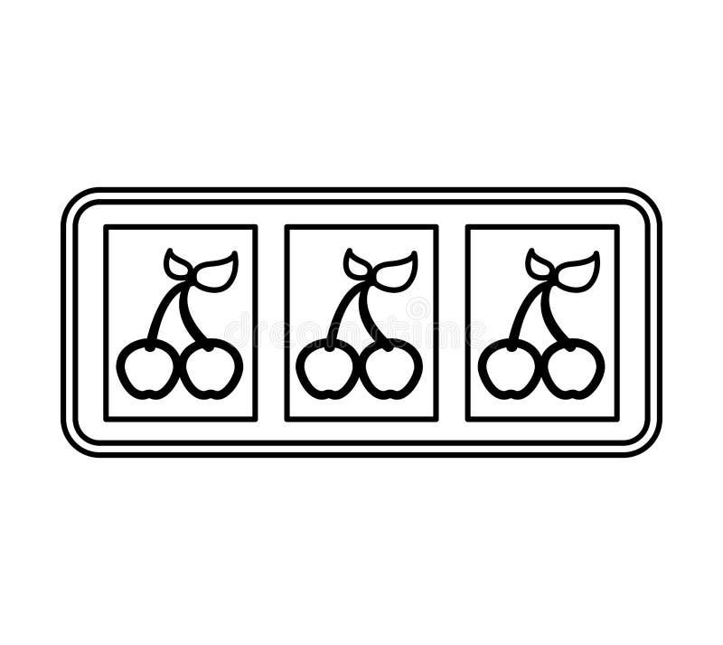 Icono de la máquina de ranuras del casino libre illustration