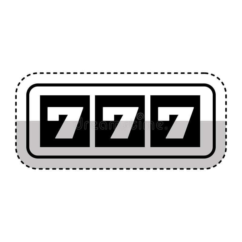 Icono de la máquina de ranuras del casino stock de ilustración