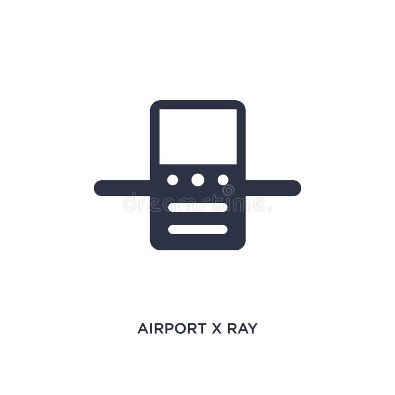 icono de la máquina del rayo del aeropuerto x en el fondo blanco Ejemplo simple del elemento del concepto del terminal de aeropue stock de ilustración