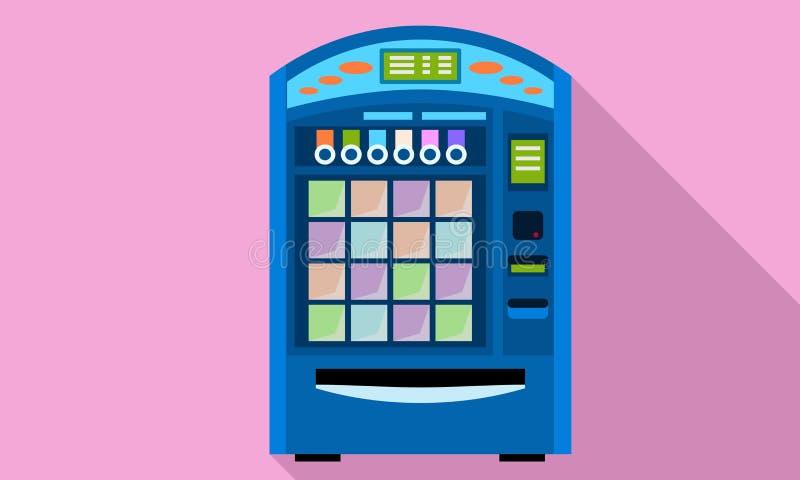 Icono de la máquina expendedora de la calle, estilo plano stock de ilustración