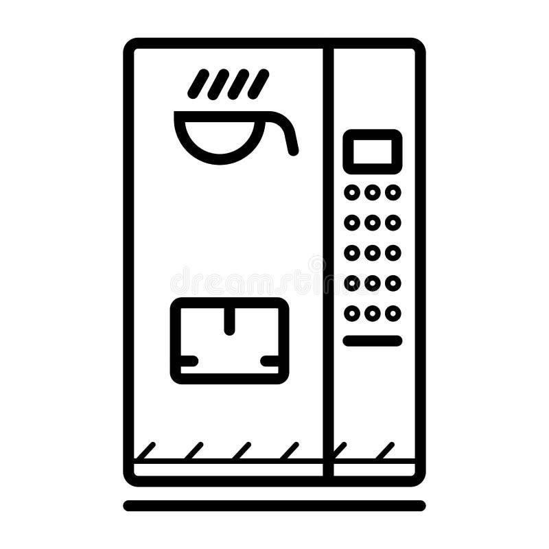 Icono de la máquina expendedora ilustración del vector