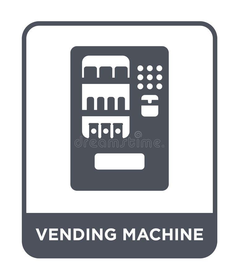 icono de la máquina expendedora en estilo de moda del diseño icono de la máquina expendedora aislado en el fondo blanco icono del ilustración del vector
