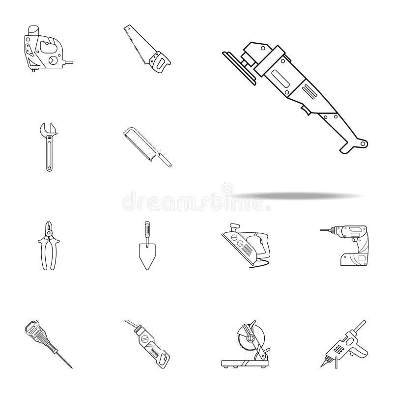 icono de la máquina pulidora Sistema universal de la reparación de los iconos caseros de la herramienta para la web y el móvil libre illustration