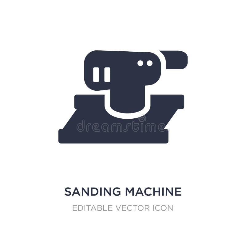 icono de la máquina que enarena en el fondo blanco Ejemplo simple del elemento del concepto de la construcción y de las herramien libre illustration