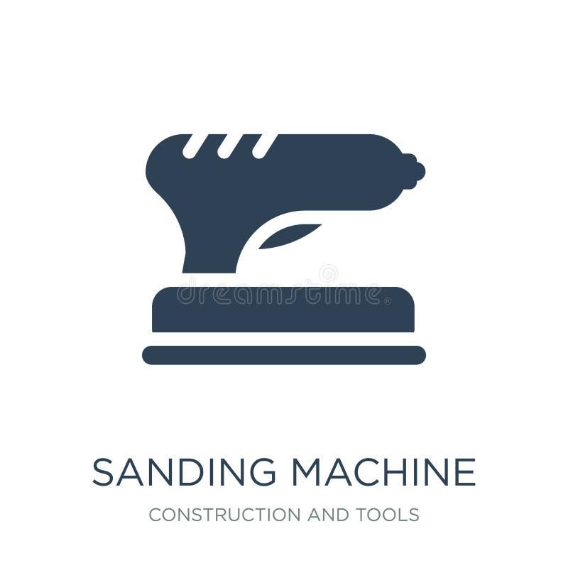 icono de la máquina que enarena en estilo de moda del diseño icono de la máquina que enarena aislado en el fondo blanco icono del stock de ilustración