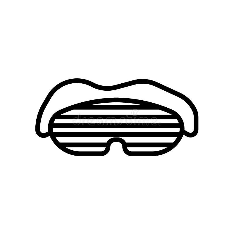 icono de la máscara del sueño aislado en el fondo blanco stock de ilustración