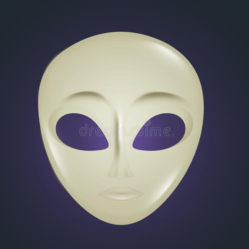 Icono de la máscara extranjera stock de ilustración