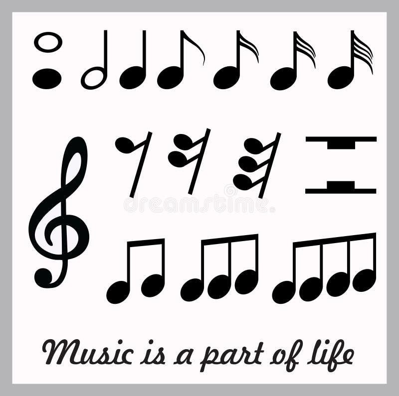 Icono de la música imagen de archivo libre de regalías
