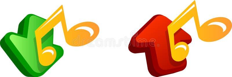 Icono de la música stock de ilustración