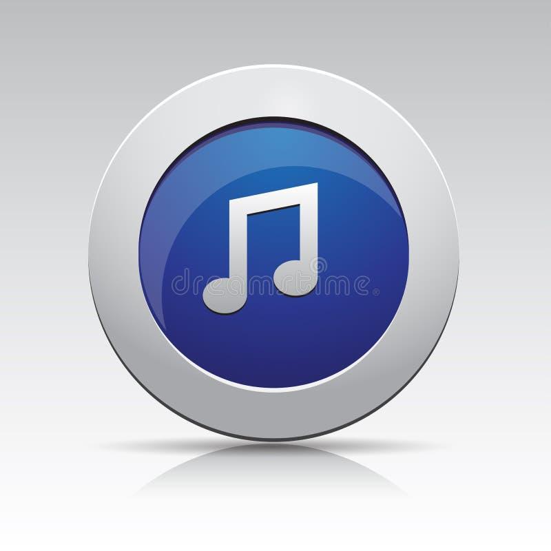 Icono de la música del gris azul ilustración del vector