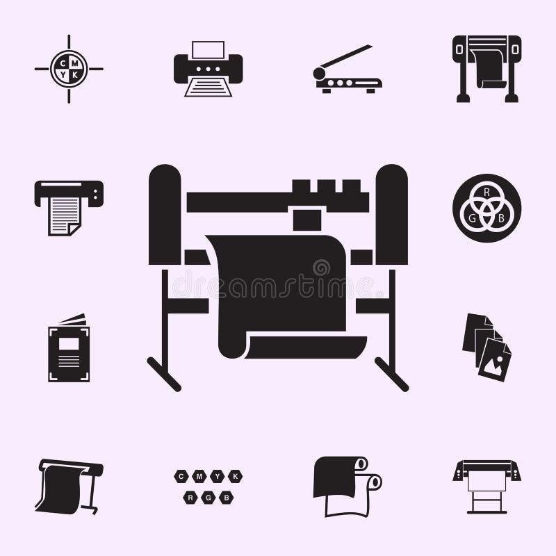 Icono de la m?quina-herramienta Sistema universal de los iconos de la casa de la impresión para la web y el móvil stock de ilustración