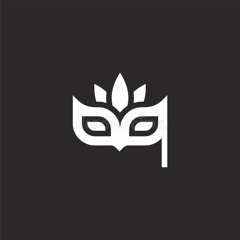 Icono de la m?scara de ojo Icono llenado de la máscara de ojo para el diseño y el móvil, desarrollo de la página web del app icon stock de ilustración