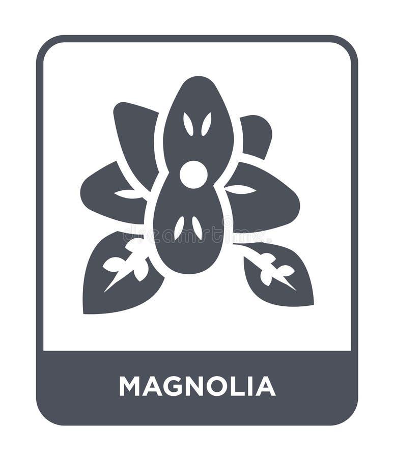icono de la magnolia en estilo de moda del diseño icono de la magnolia aislado en el fondo blanco plano simple y moderno del icon ilustración del vector