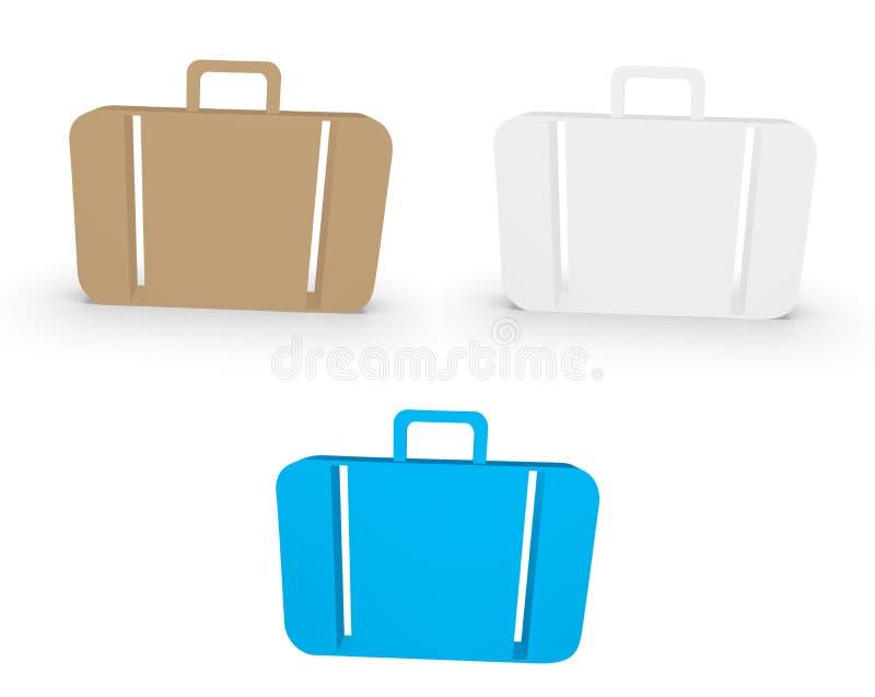 Icono de la maleta fotografía de archivo