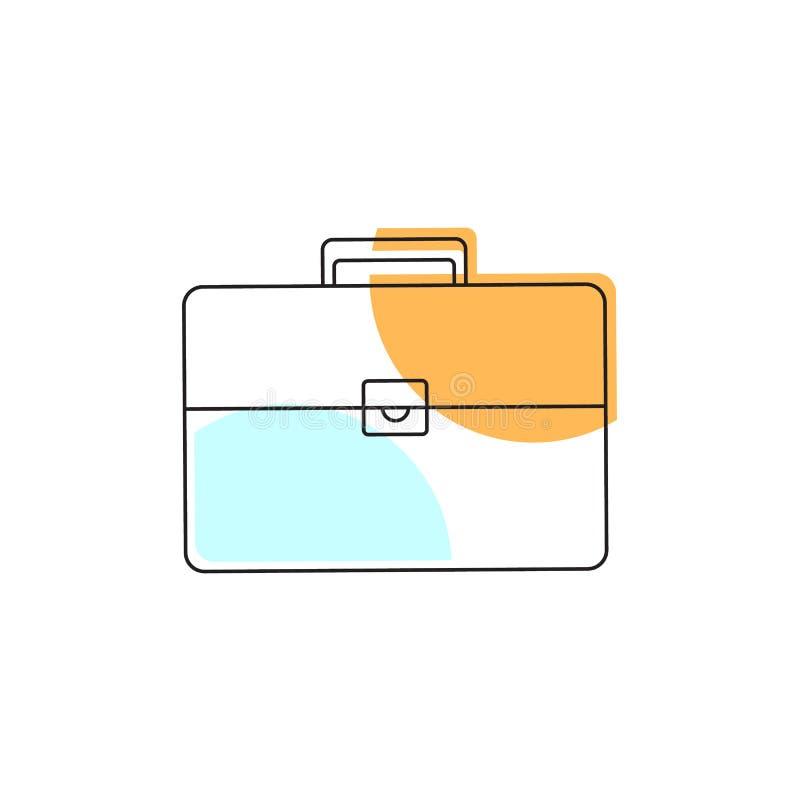 Icono de la maleta Elemento de la escuela para el diseño ilustración del vector