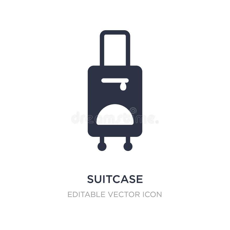 Icono de la maleta en el fondo blanco Ejemplo simple del elemento del concepto de las muestras stock de ilustración