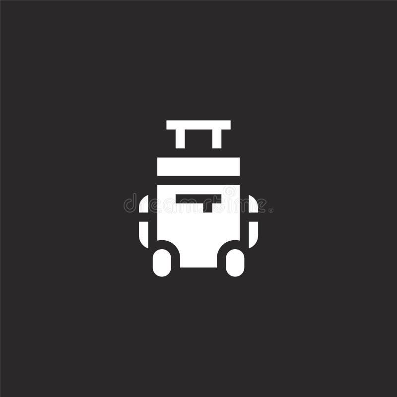 Icono de la maleta Icono llenado de la maleta para el diseño y el móvil, desarrollo de la página web del app icono de la maleta d ilustración del vector