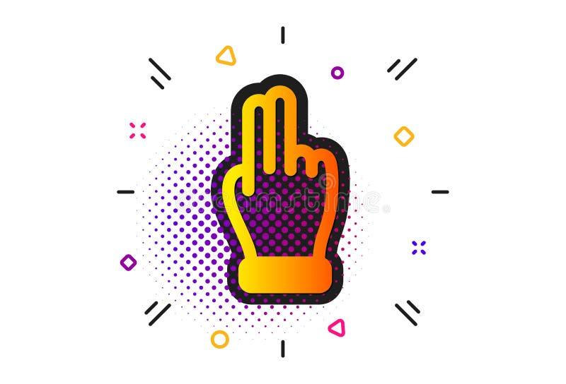 Icono de la mano del tecleo r Vector ilustración del vector