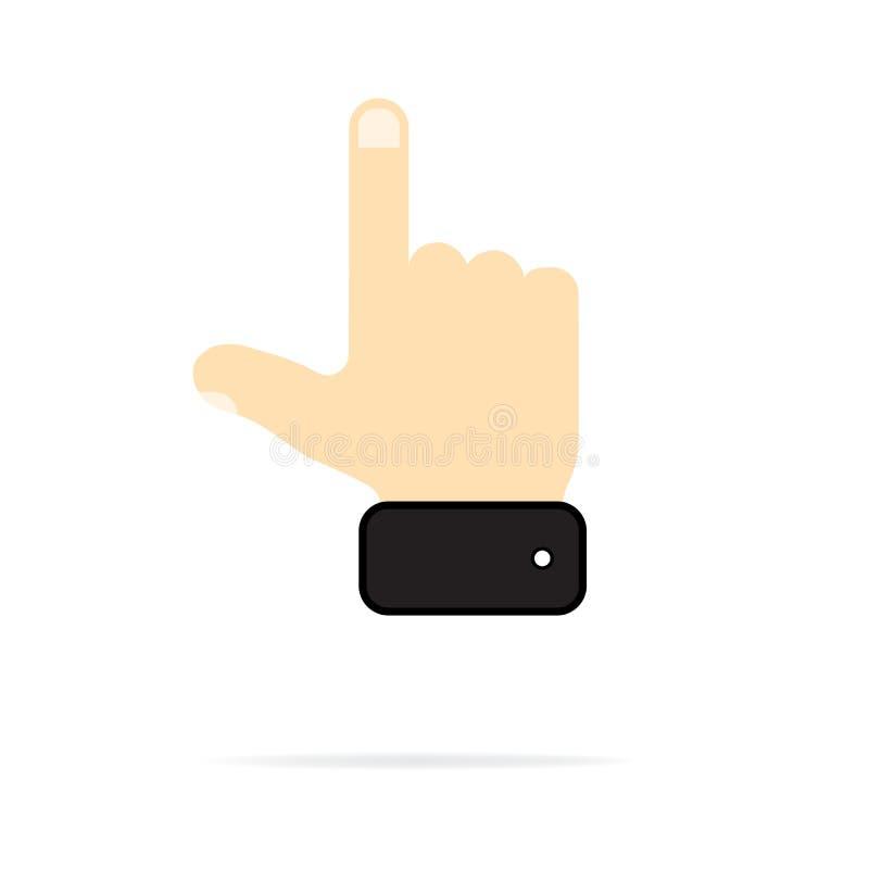 Icono de la mano en el fondo blanco Ilustraci?n del vector ilustración del vector