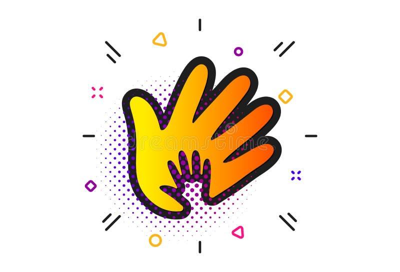 Icono de la mano Muestra de la responsabilidad social Vector ilustración del vector