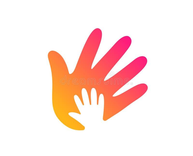 Icono de la mano Muestra de la responsabilidad social Vector libre illustration