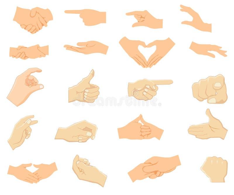 Icono de la mano Sistema del vector libre illustration