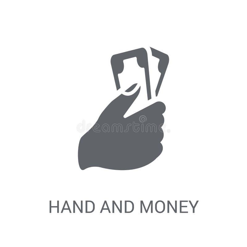 Icono de la mano y del dinero  ilustración del vector