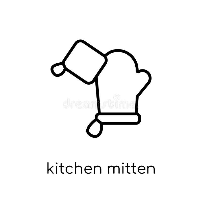 icono de la manopla de la cocina de la colección de la cocina stock de ilustración