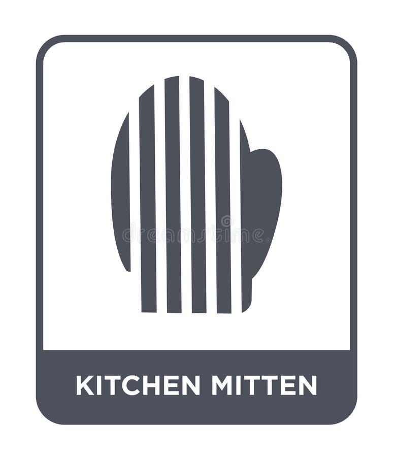 icono de la manopla de la cocina en estilo de moda del diseño icono de la manopla de la cocina aislado en el fondo blanco icono d ilustración del vector