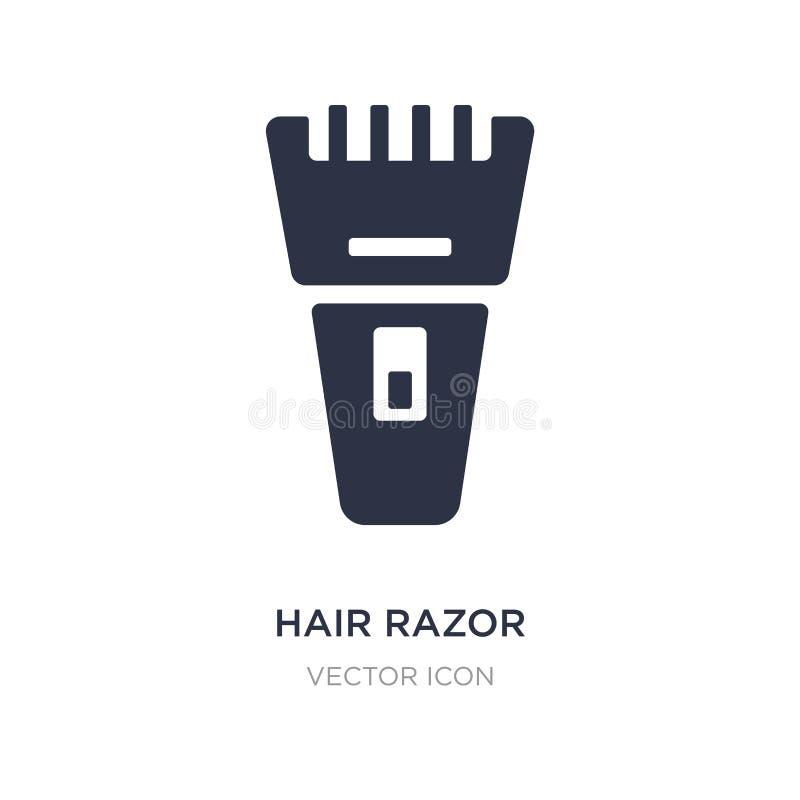 icono de la maquinilla de afeitar del pelo en el fondo blanco Ejemplo simple del elemento del concepto de la belleza stock de ilustración