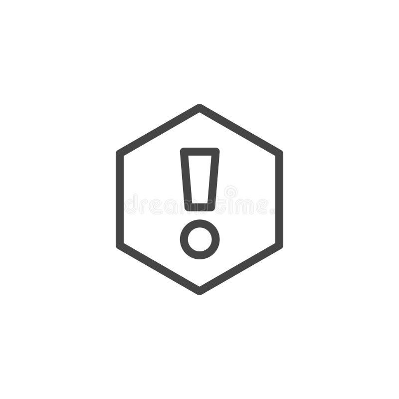 Icono de la marca de exclamación aislado Atención, expresión, información, muestra importante del web Elemento del botón o del in libre illustration