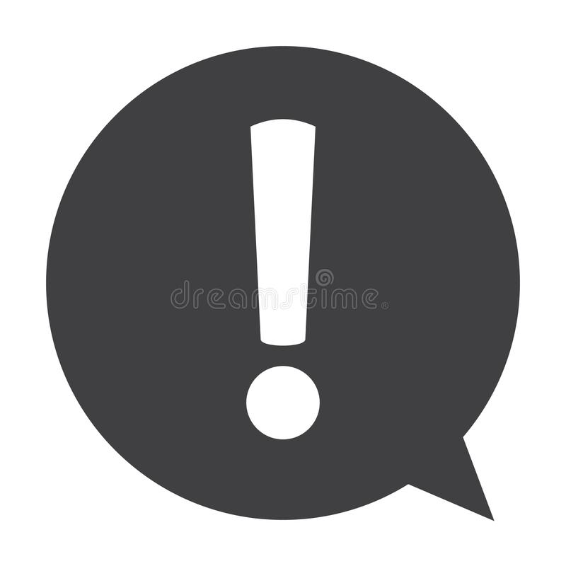 Icono de la marca de exclamación Símbolo amonestador del peligro Icono de la muestra de la atención Vector libre illustration