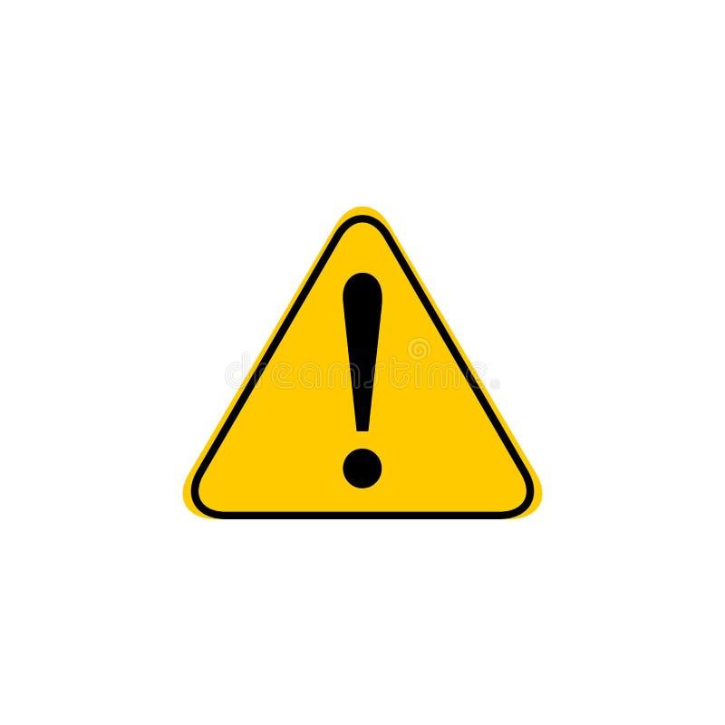 Icono de la marca de exclamaci?n en estilo plano Ejemplo del vector de la alarma del peligro en fondo aislado Negocio del riesgo  stock de ilustración