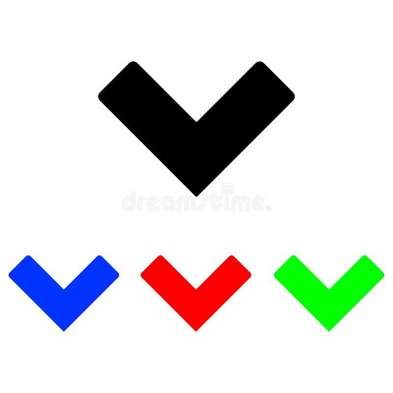 Icono de la marca de verificación ilustración del vector