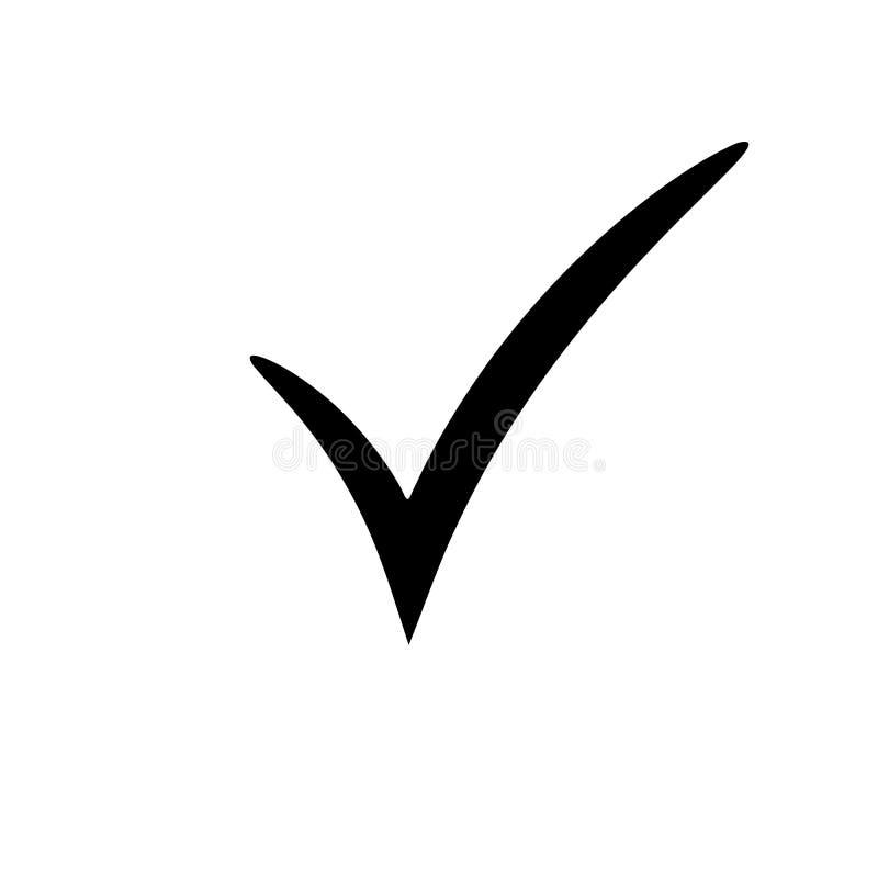 Icono de la marca de verificación Botón de la marca de cotejo del vector Símbolo de la señal foto de archivo libre de regalías