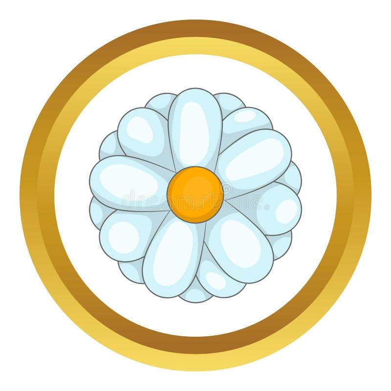 Icono de la margarita stock de ilustración