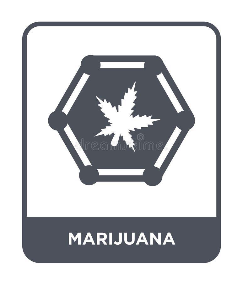 icono de la marijuana en estilo de moda del diseño Icono de la marijuana aislado en el fondo blanco plano simple y moderno del ic ilustración del vector