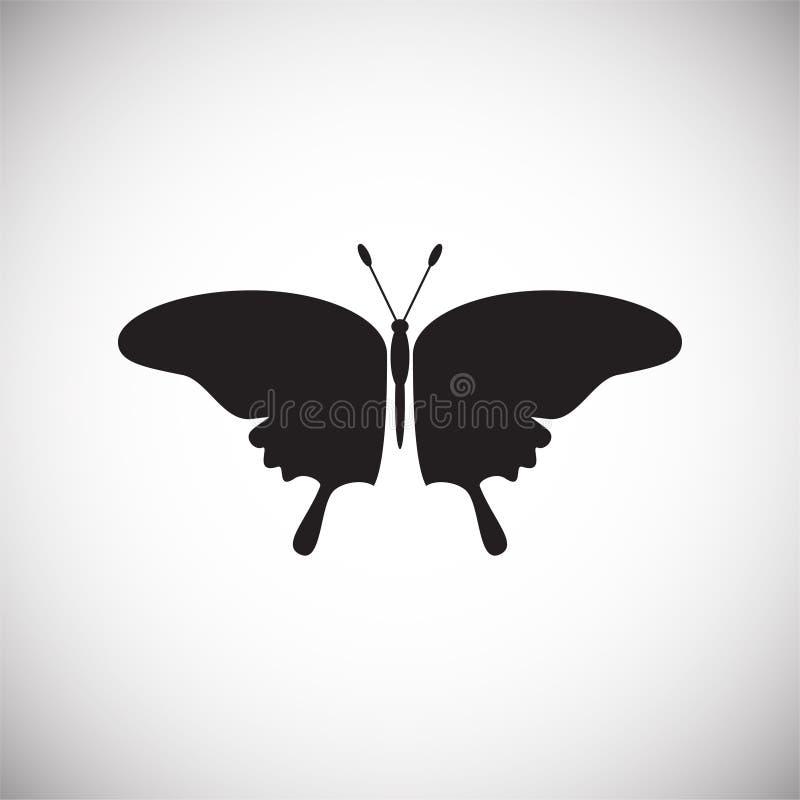 Icono de la mariposa en el fondo blanco para el gráfico y el diseño web, muestra simple moderna del vector Concepto del Internet  stock de ilustración