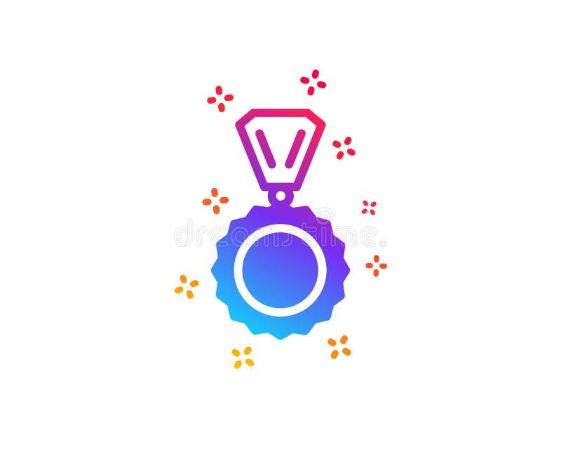 Icono de la medalla del premio Logro del ganador Vector ilustración del vector