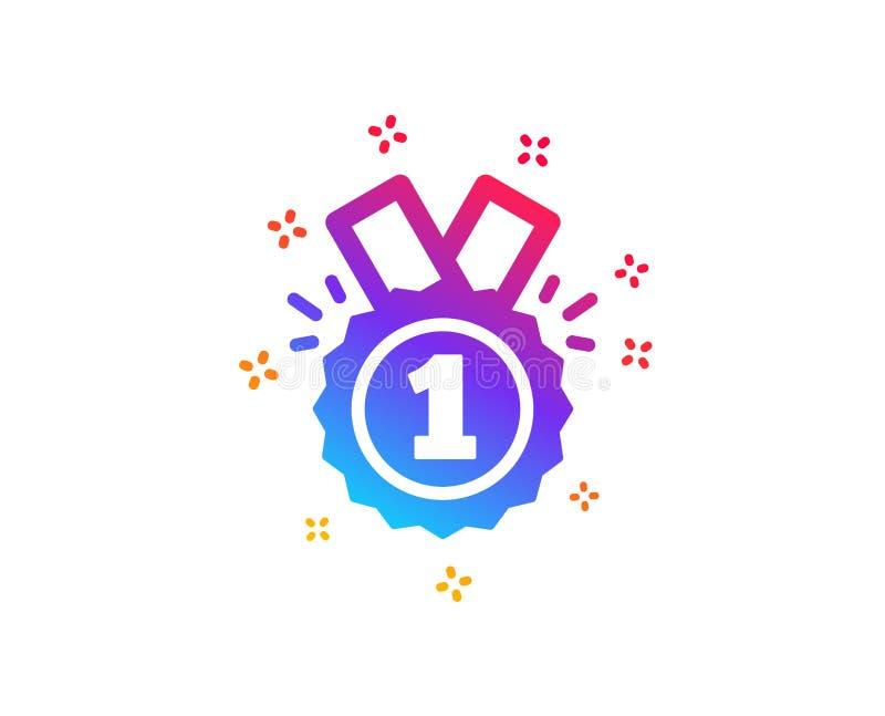 Icono de la medalla de la recompensa Logro del ganador Vector stock de ilustración