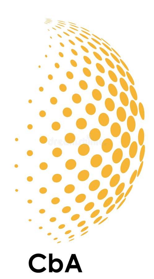 Icono de la media esfera fotografía de archivo
