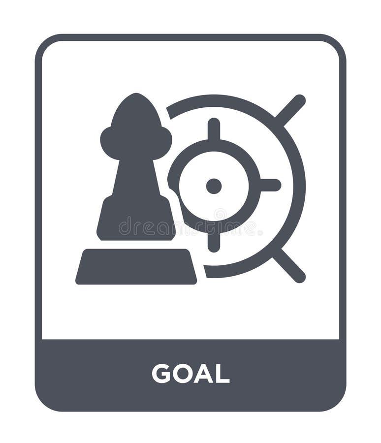 icono de la meta en estilo de moda del diseño Icono de la meta aislado en el fondo blanco símbolo plano simple y moderno del icon ilustración del vector