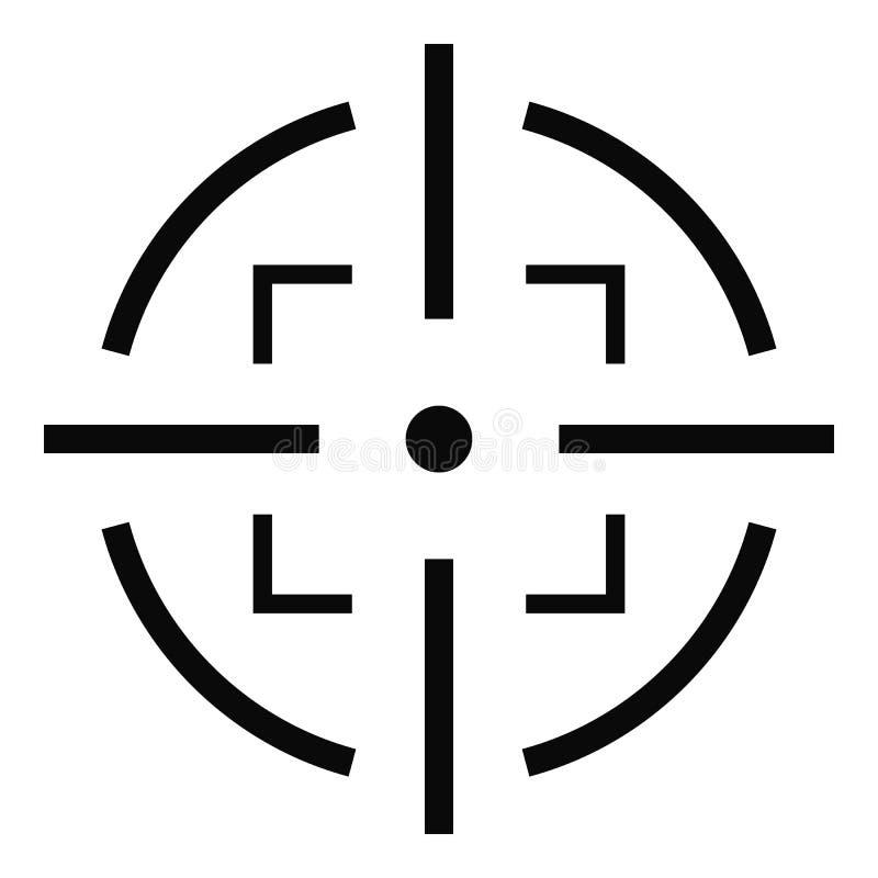 Icono de la meta, estilo simple libre illustration
