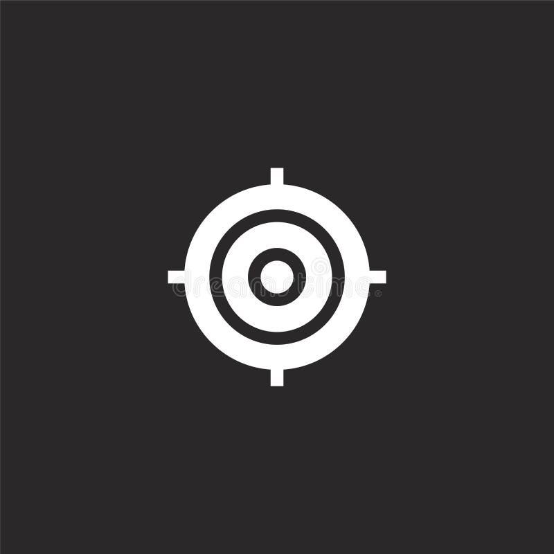 Icono de la meta Icono llenado de la meta para el diseño y el móvil, desarrollo de la página web del app el icono de la meta de l ilustración del vector