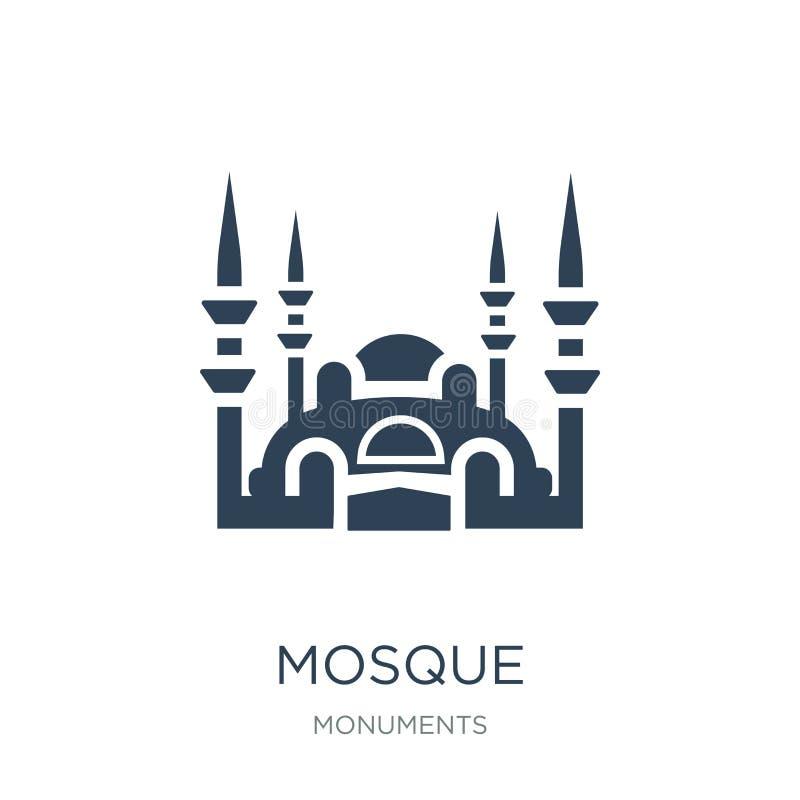 icono de la mezquita en estilo de moda del diseño icono de la mezquita aislado en el fondo blanco símbolo plano simple y moderno  libre illustration