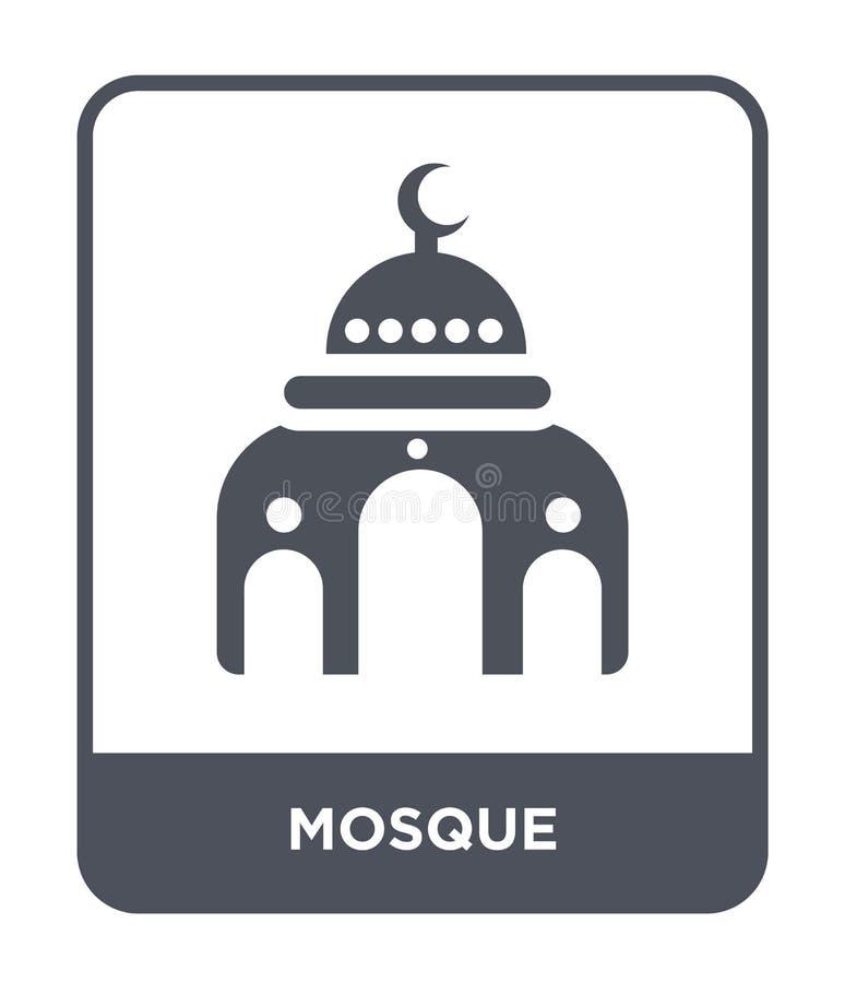 icono de la mezquita en estilo de moda del diseño icono de la mezquita aislado en el fondo blanco símbolo plano simple y moderno  ilustración del vector