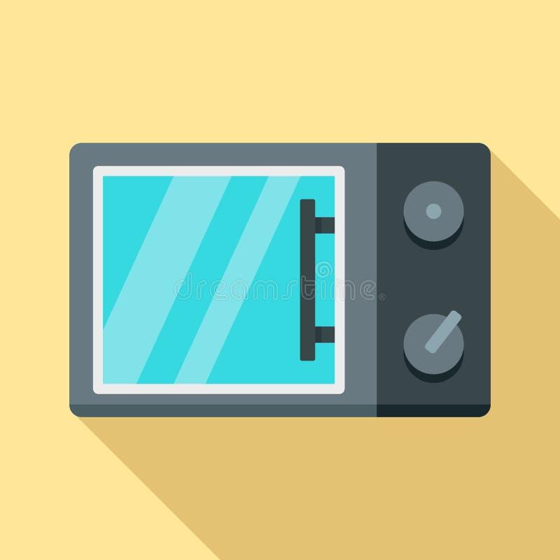 Icono de la microonda, estilo plano libre illustration