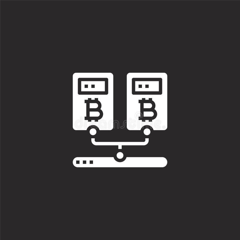 Icono de la miner?a de datos Icono llenado de la minería de datos para el diseño y el móvil, desarrollo de la página web del app  ilustración del vector