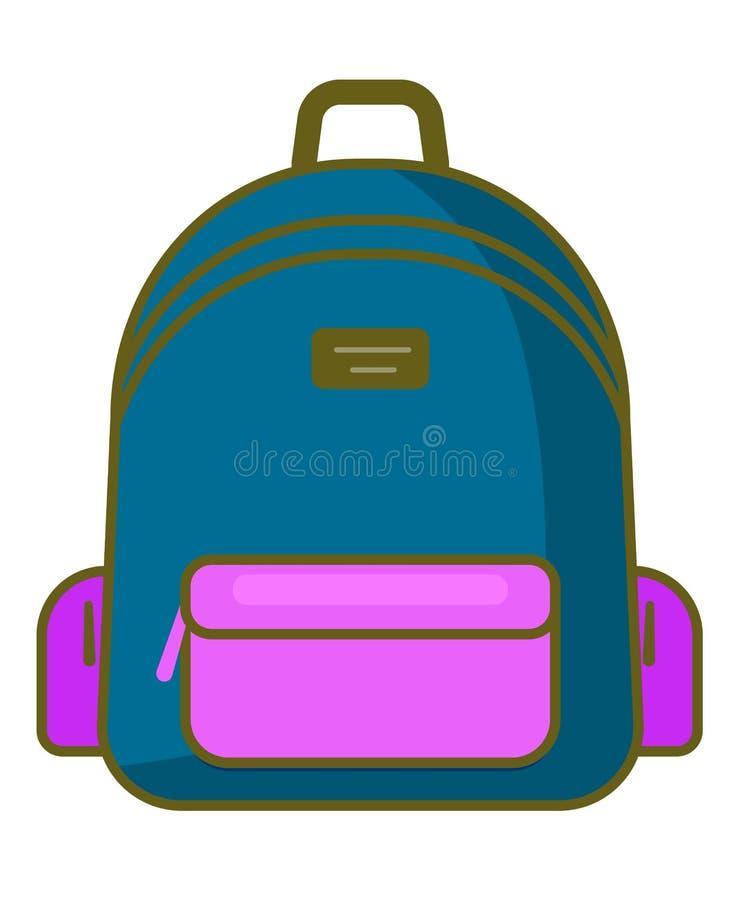 Icono de la mochila - símbolo de la escuela del vector - icono del viaje libre illustration