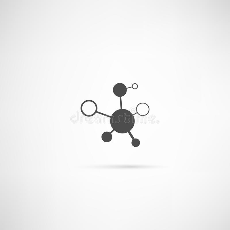 Icono de la molécula imagenes de archivo